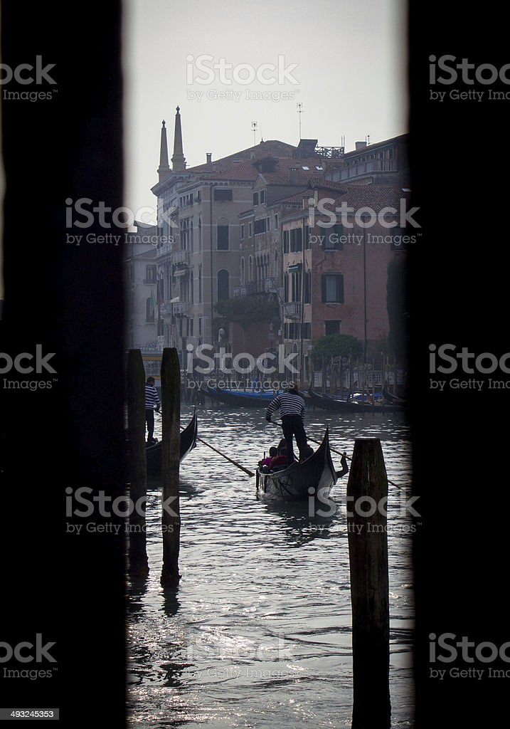 Gondola Ride on the Grand Canal royalty-free stock photo