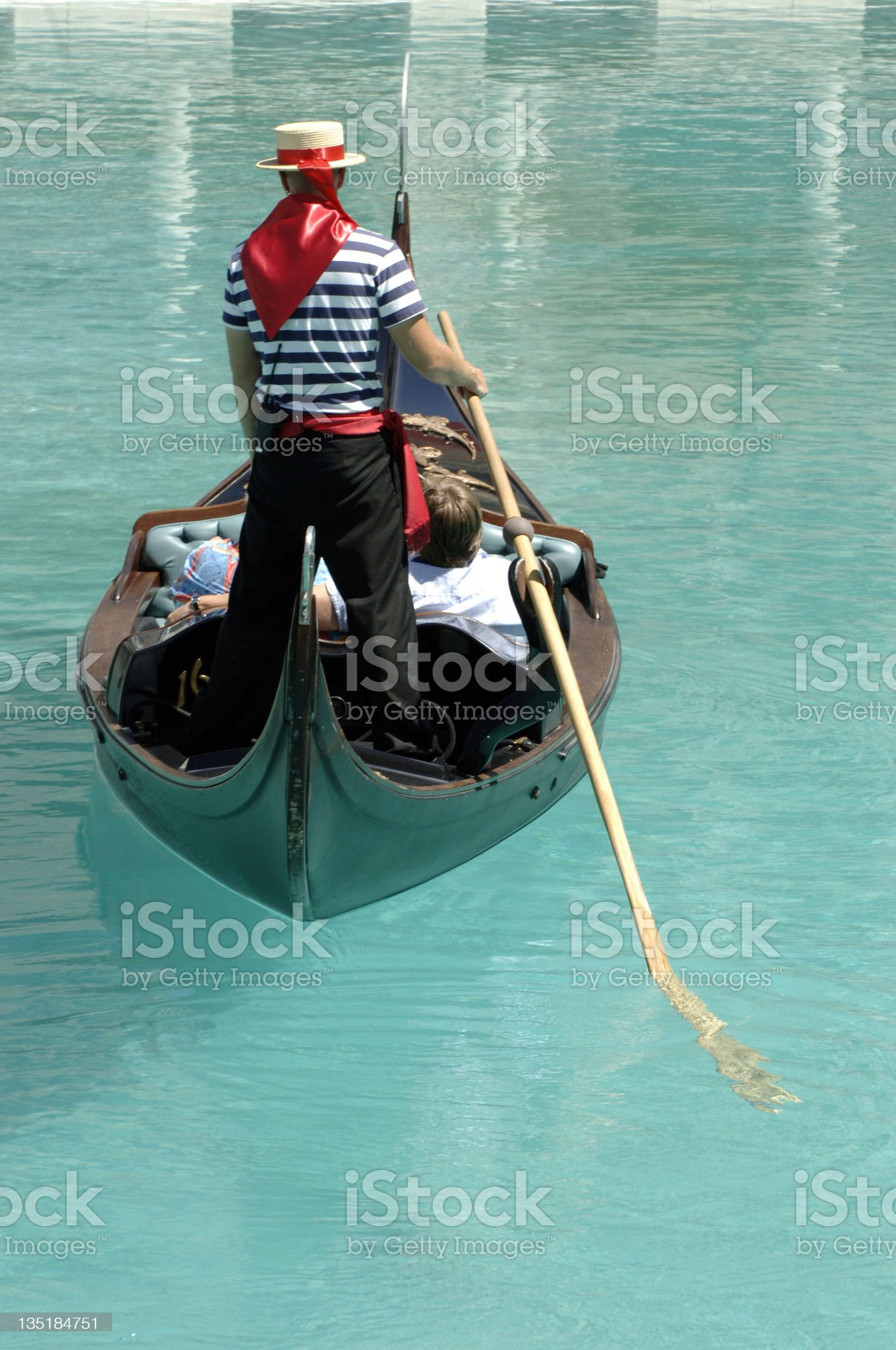 Gondola ride. royalty-free stock photo
