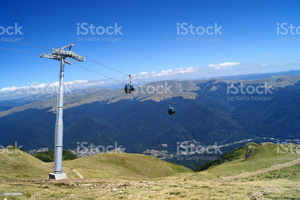 Gondola, Romania, Sinaia stock photo