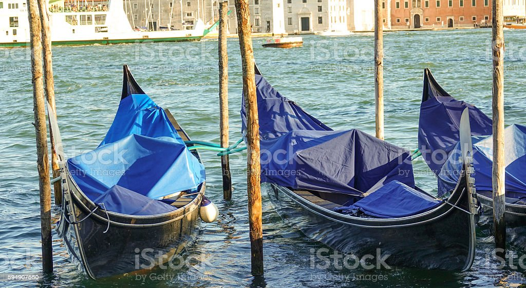 Gondola service in the city of Venice Italy Lizenzfreies stock-foto