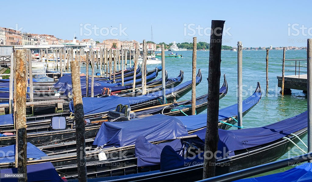 Gondel service in Venedig Lizenzfreies stock-foto