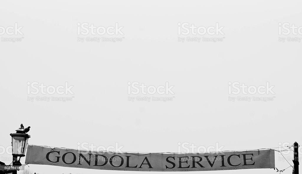 Gondola sign stock photo