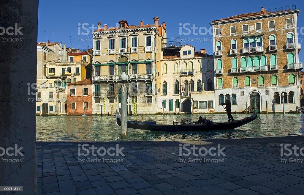 Gondola silhouette stock photo