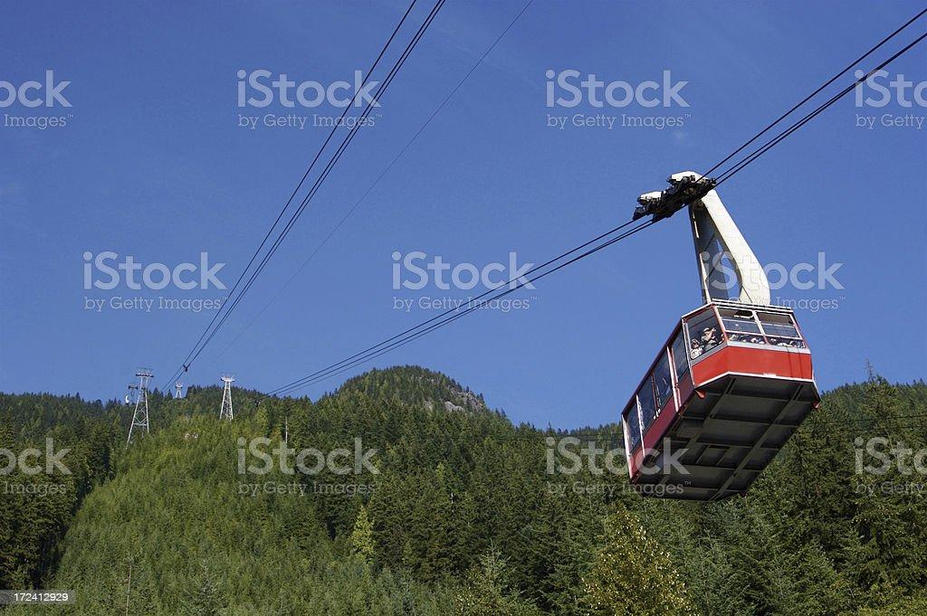 Gondola To The Mountain Top royalty-free stock photo