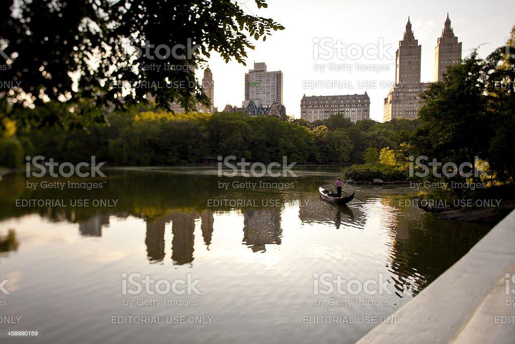 gondola tour in New York stock photo