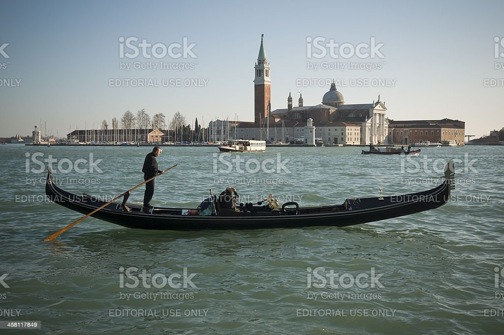 Gondola trip royalty-free stock photo