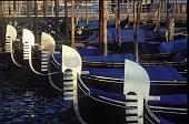 Gondola under sunset in Venice, Italy