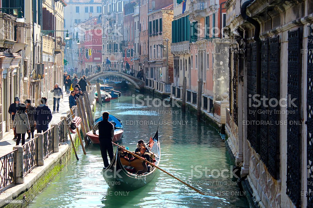 Gondola - Venice canal - Italy stock photo