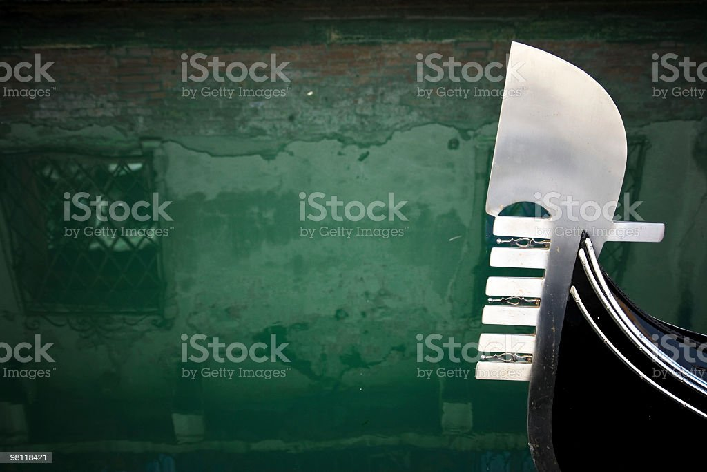 Gondola with copy space royalty-free stock photo