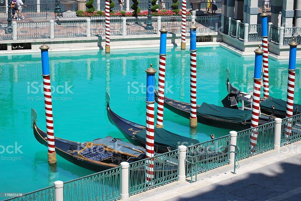 Gondolas and Poles royalty-free stock photo