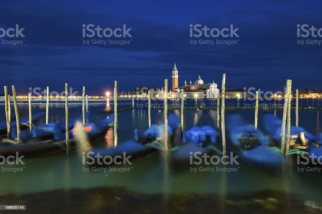 Gondolas at Grand Canal, Venice, Italy royalty-free stock photo