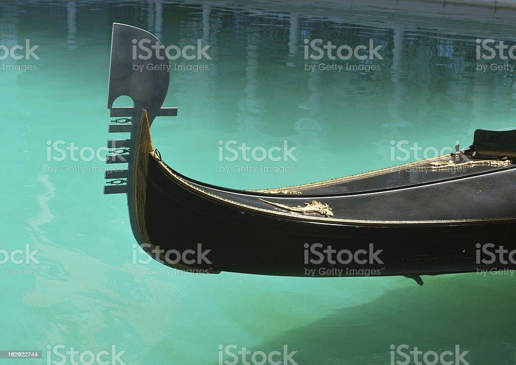 Gondola's Bow in Venice. royalty-free stock photo
