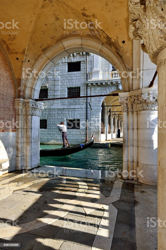 Gondolas, Grand Canal, Venice stock photo