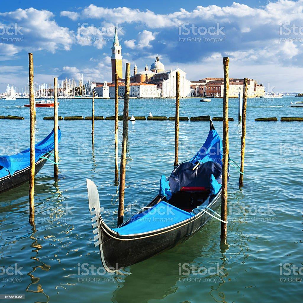Gondolas in Venezia royalty-free stock photo