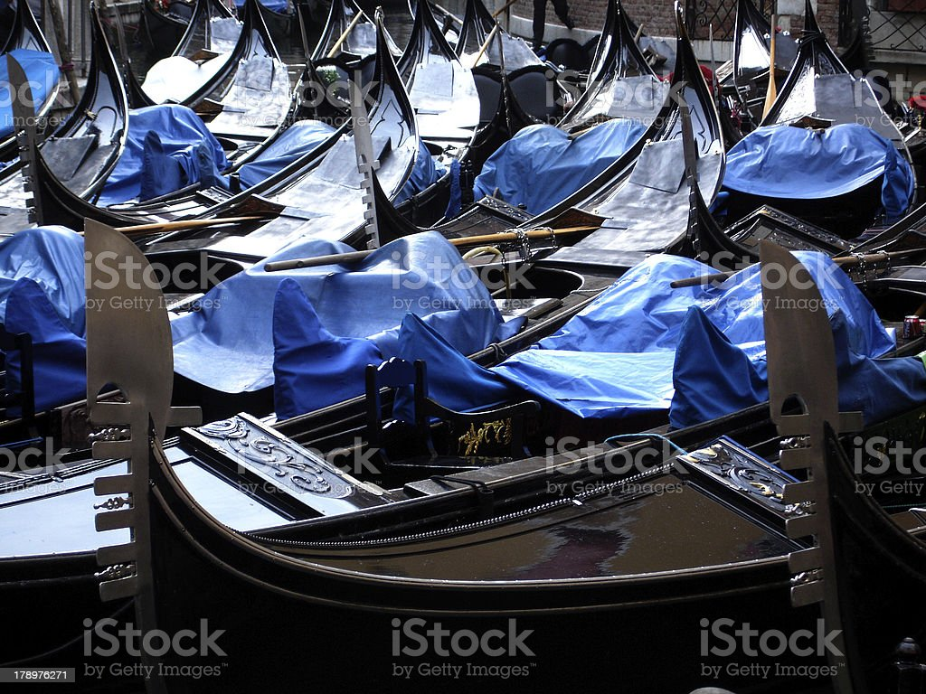 Gondolas in Venice, Italy royalty-free stock photo