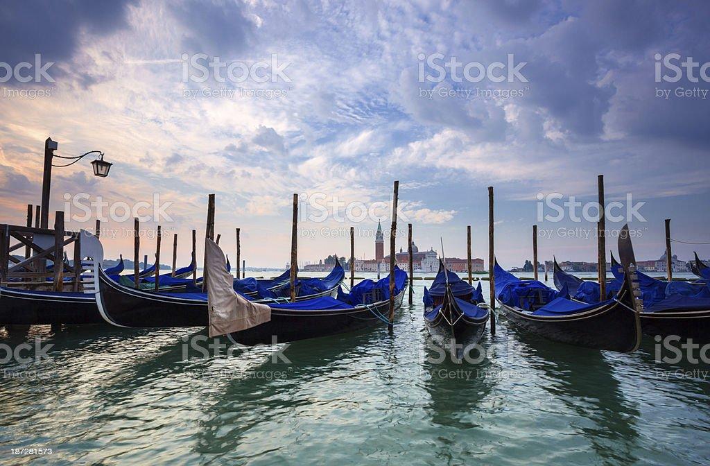 gondolas in Venice. Italy. royalty-free stock photo