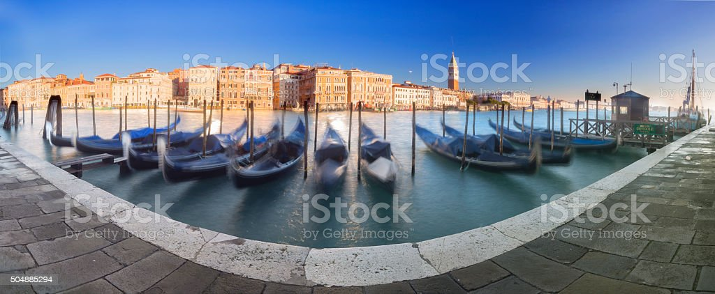 Gondolas  in Venice - Panorama stock photo