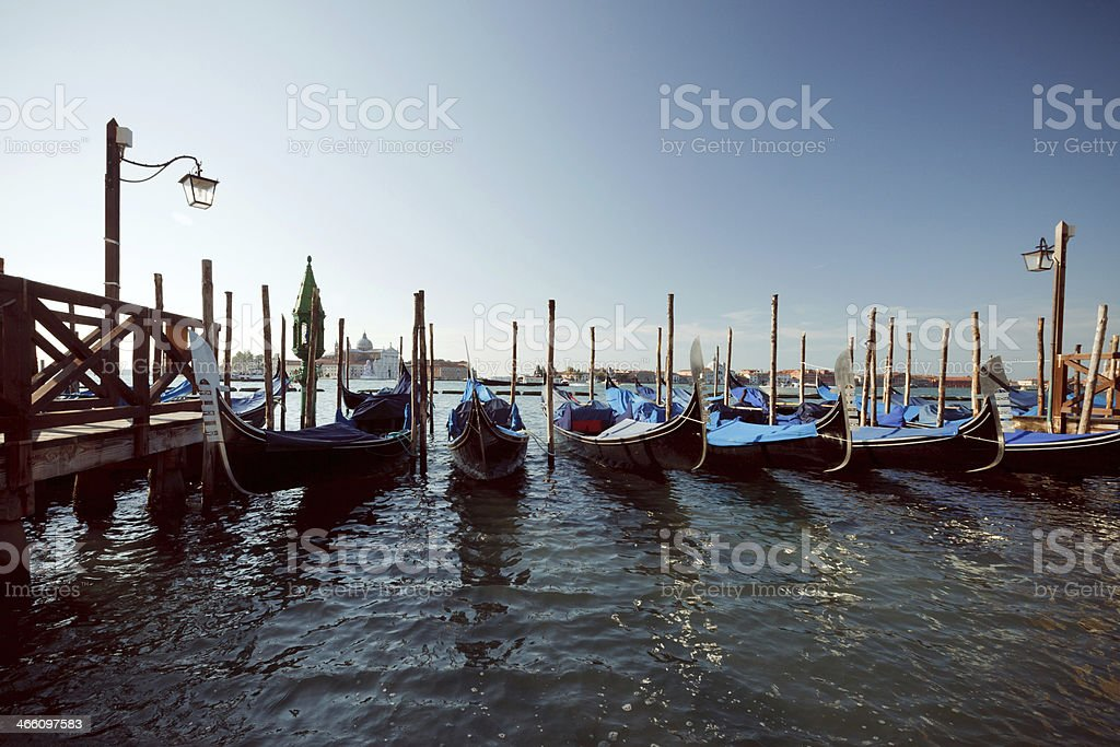 Gondolas in Venice royalty-free stock photo
