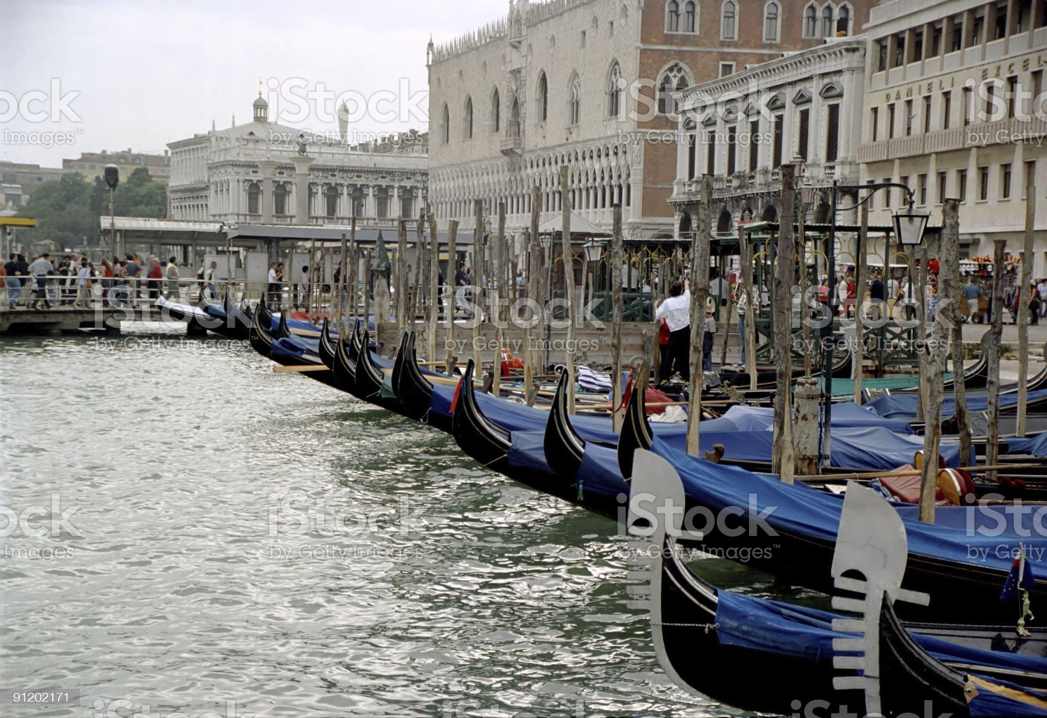 Gondolas in Venice royalty-free stock photo