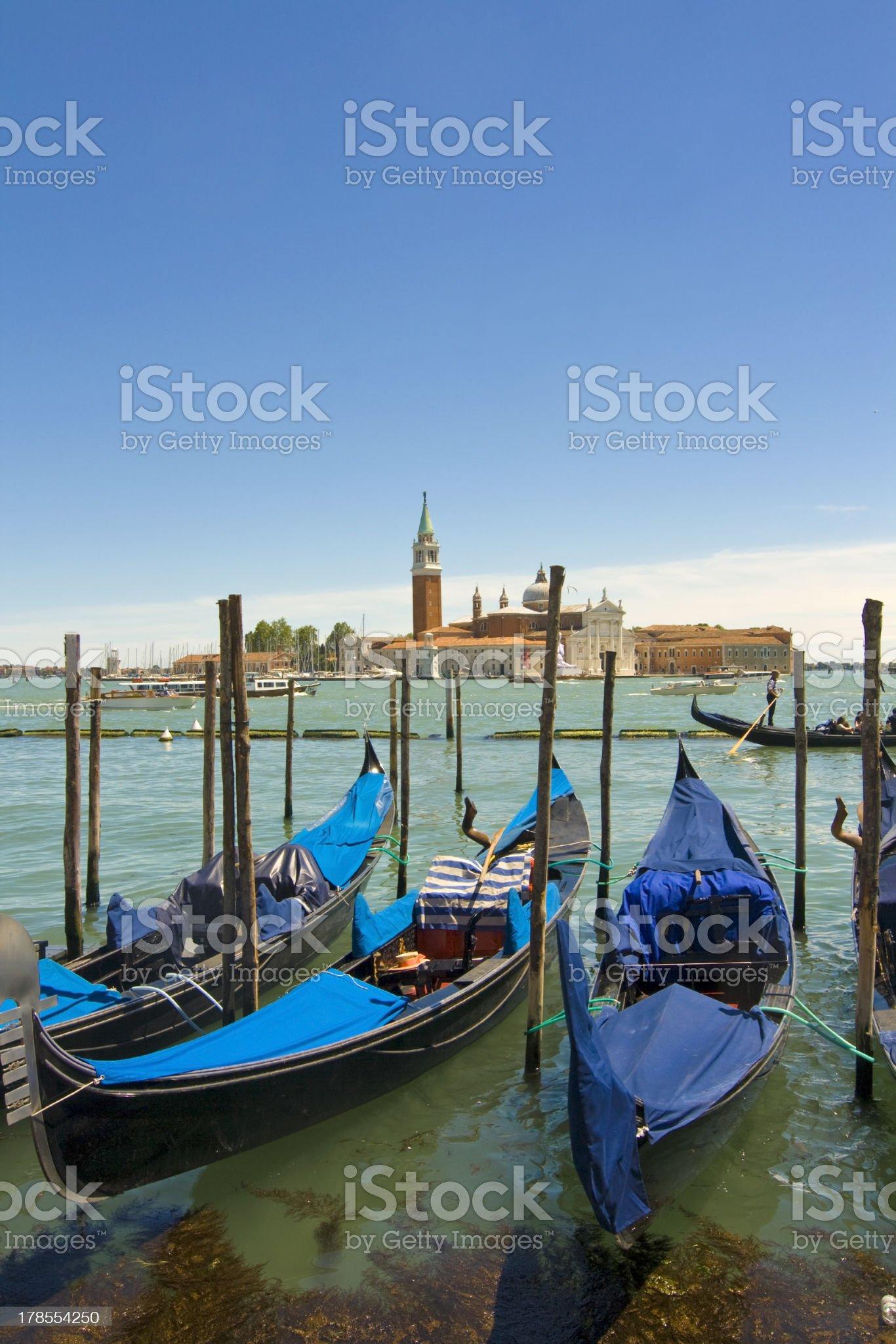 Gondolas of Venice royalty-free stock photo