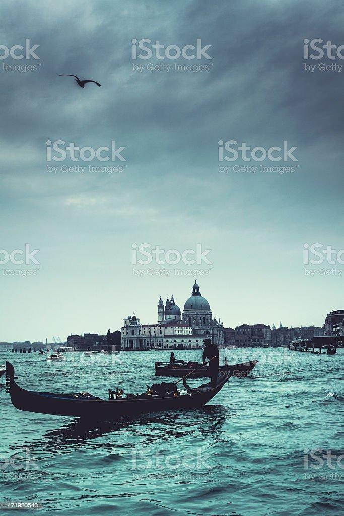 Gondolas of Venice, Veneto, Italy royalty-free stock photo