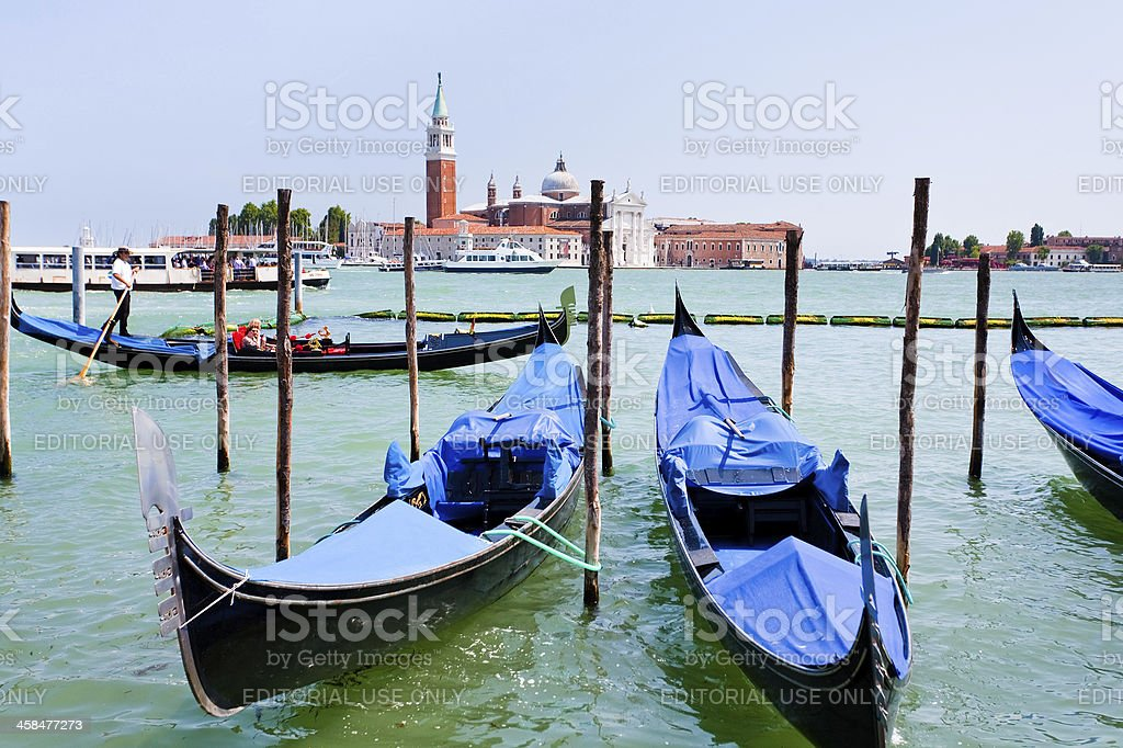 gondolas on San Marco Canal, Venice royalty-free stock photo