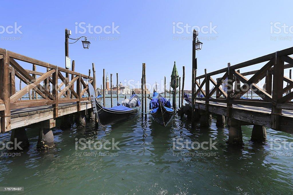 Gondolas foto de stock libre de derechos
