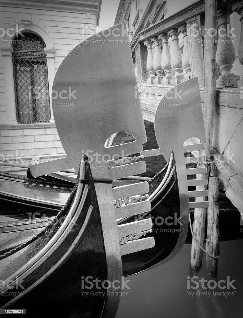 Gondolas (Venice) royalty-free stock photo