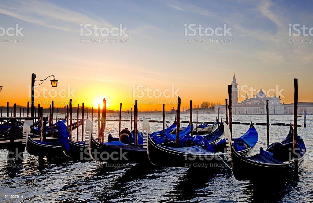 Gondolas stock photo