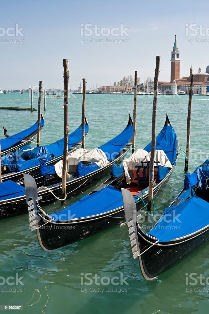 Gondolas San Marco Venice royalty-free stock photo