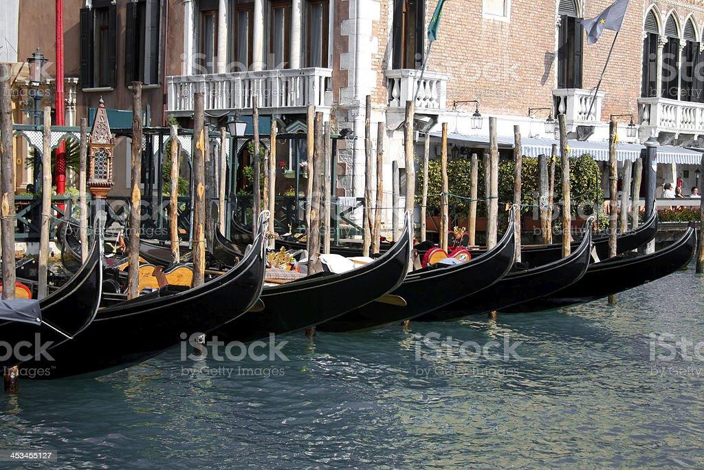 Gondolas, Venice, Italy royalty-free stock photo