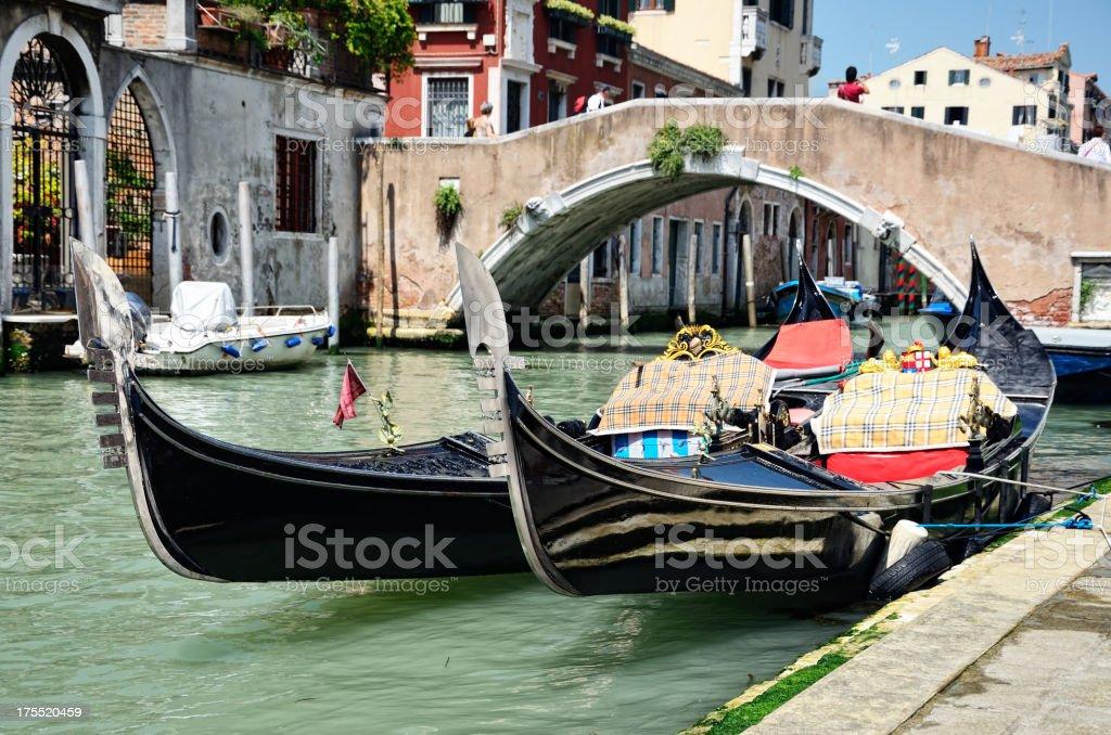 Gondolas, Venice royalty-free stock photo