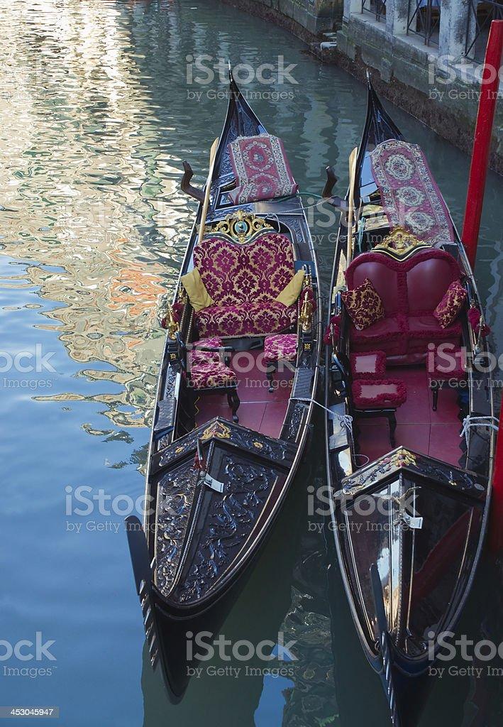 Gondolas. Venice. royalty-free stock photo