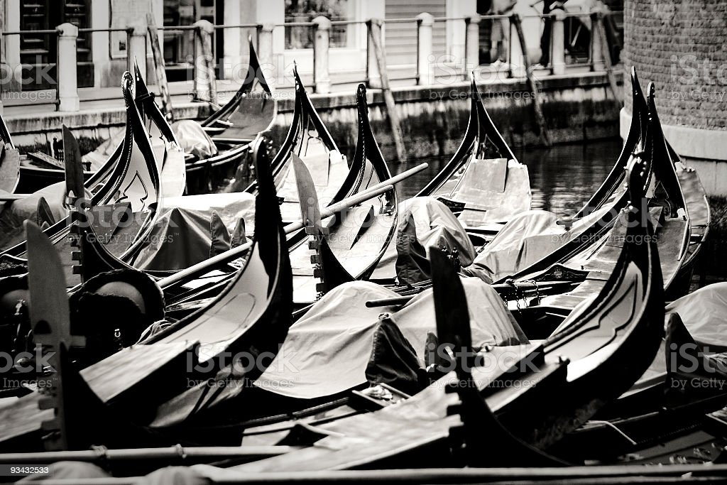 Gondole in Venice royalty-free stock photo