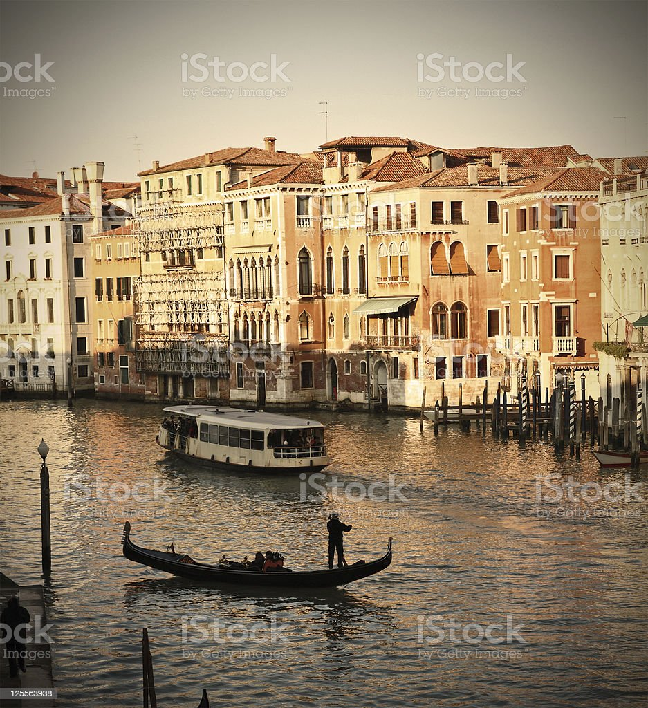 Gondolier royalty-free stock photo