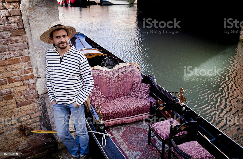 Gondolier royalty-free stock photo