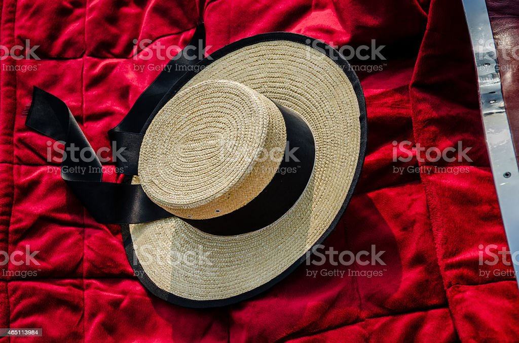 Cappello Gondoliers foto stock royalty-free