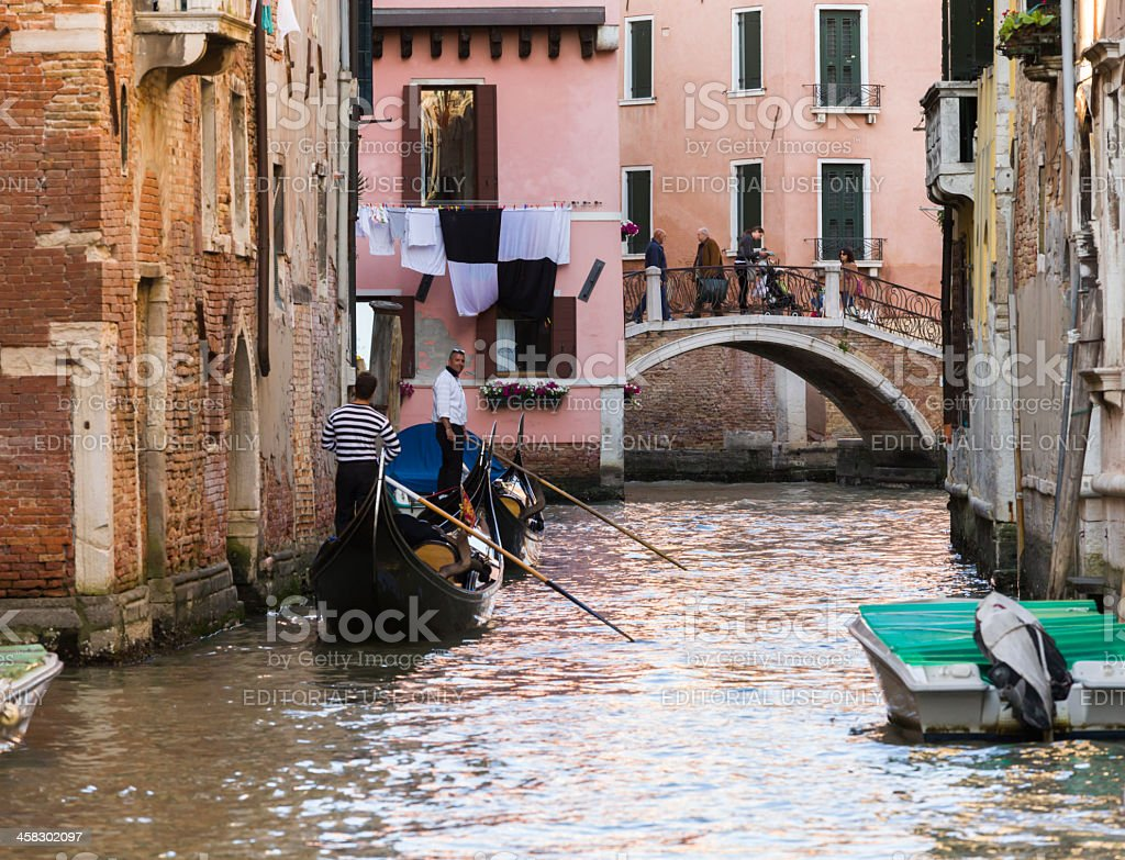 gondoliers in Venice royalty-free stock photo