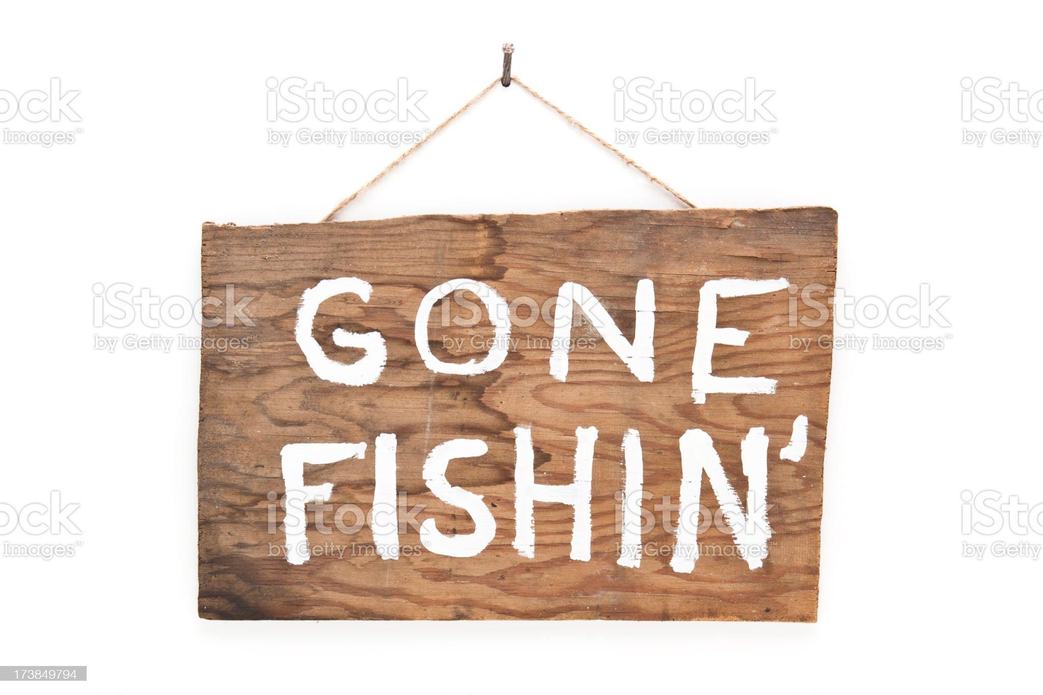 Gone Fishin' royalty-free stock photo