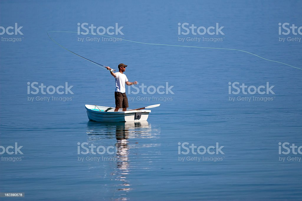 Gone Fishing royalty-free stock photo