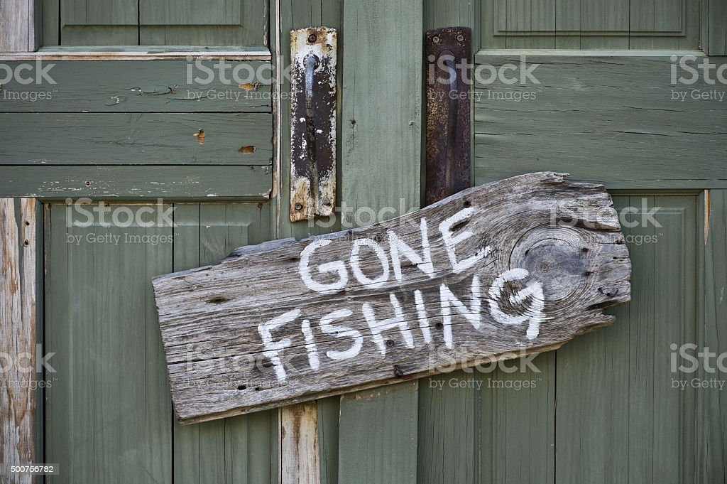 Gone Fishing. stock photo