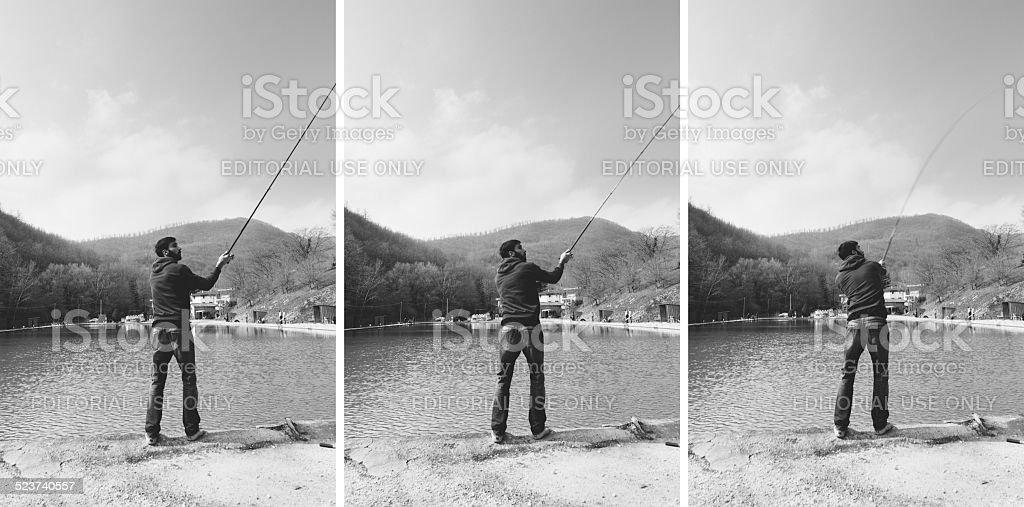 Gone Fishing... stock photo