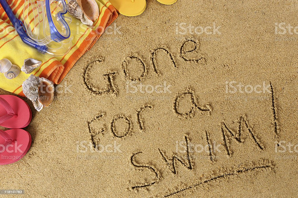 Gone for a swim royalty-free stock photo
