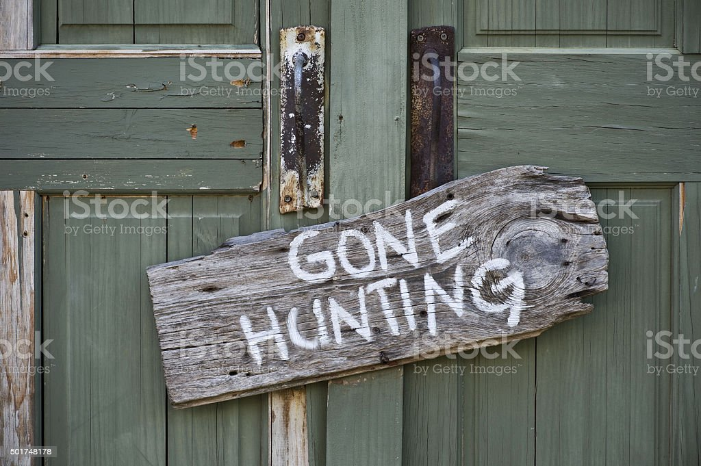 Gone Hunting. stock photo