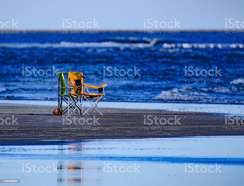 Gone swimming at N. Myrtle Beach, SC. stock photo