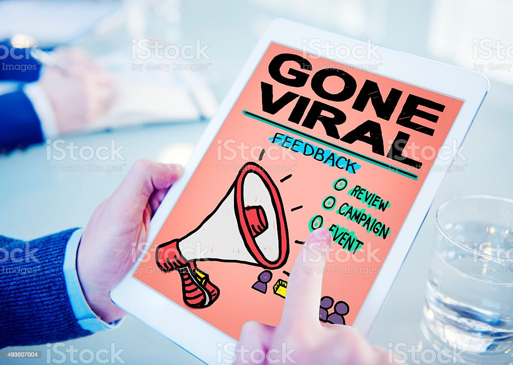 Gone Viral Popular Famous Share Post Concept stock photo