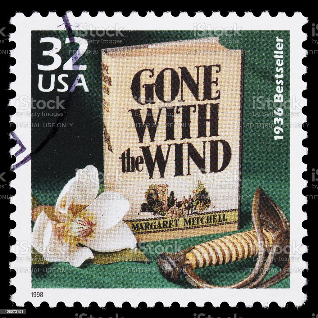 USA Gone With the Wind postage stamp stock photo