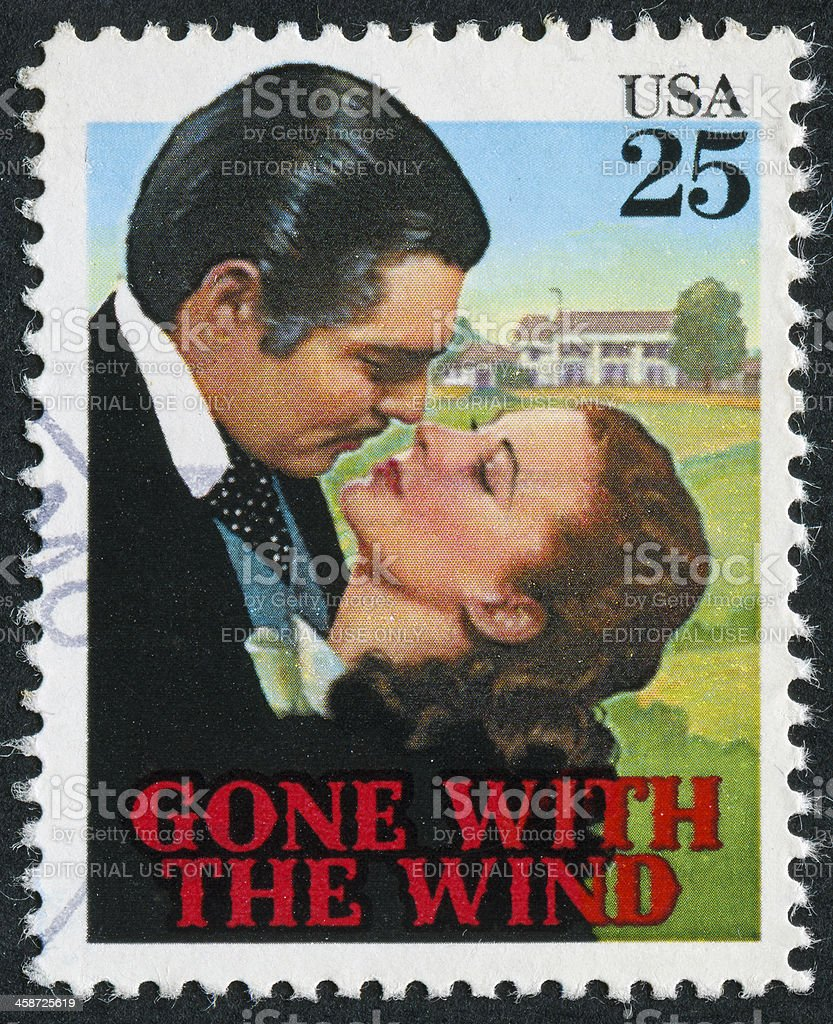 Gone With The Wind Stamp stock photo