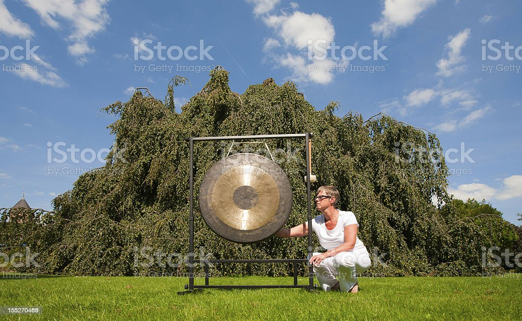 Gong sound healing royalty-free stock photo