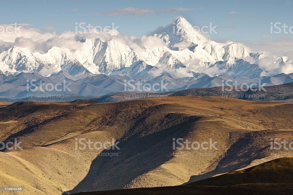 Gongga Mountains royalty-free stock photo